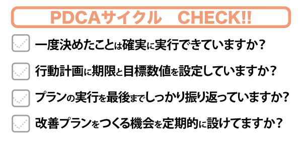 PDCAサイクルチェック項目